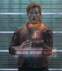 Chris Pratt als Star Lord in Guardians of the Galaxy.